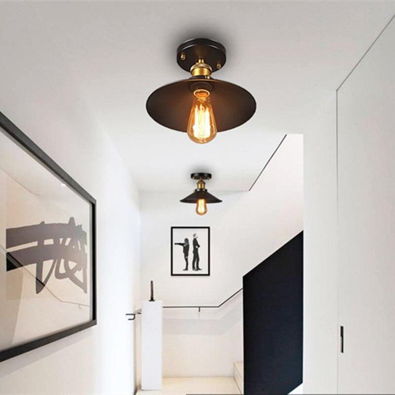 vintage ceiling light black ceiling lamp industrial flush mount