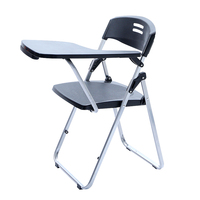 High Quality Modern Simple Office Chair With Writing Board Staff Conference Training Folding Chair Portable Stable