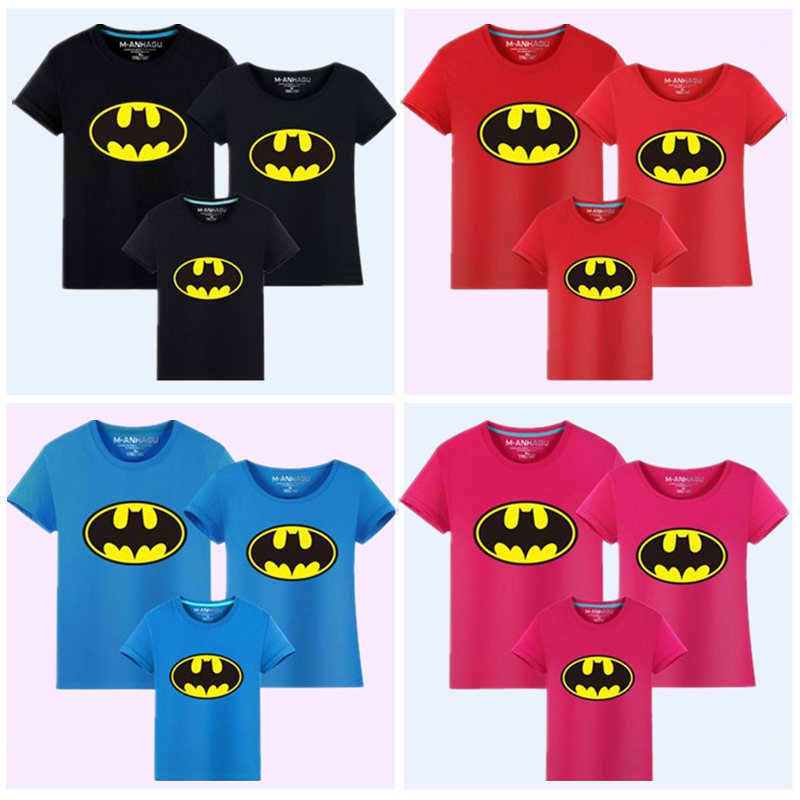 Family Matching Outfits Batman T-shirt Mommy and Me Clothes fashion - Children's Clothing - Photo 3