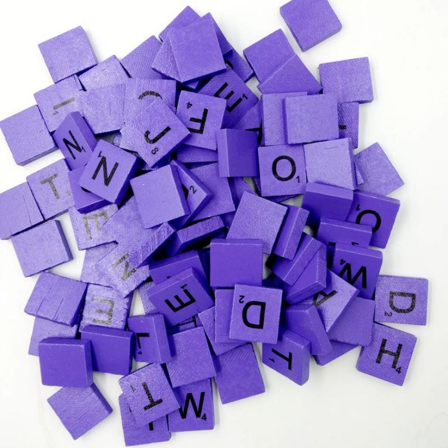 100 деревянный scrabble Плитки черные буквы Номера для Ремесла Дерево алфавитов L124