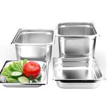 Kitchen Accessories 6pcs/lot Soup Pot 1/3 STAINLESS STEEL STEAM TABLE FOOD PAN COMMERCIAL BIG GN Pans WITH LID