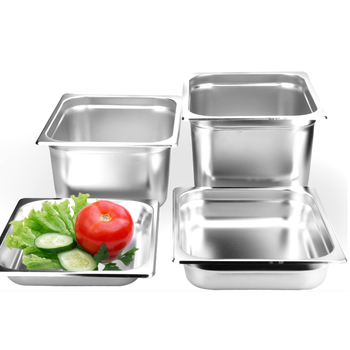 "Kitchen Accessories 6pcs/lot Soup Pot 1/3"" STAINLESS STEEL STEAM TABLE FOOD PAN COMMERCIAL BIG GN Pans WITH PAN LID"
