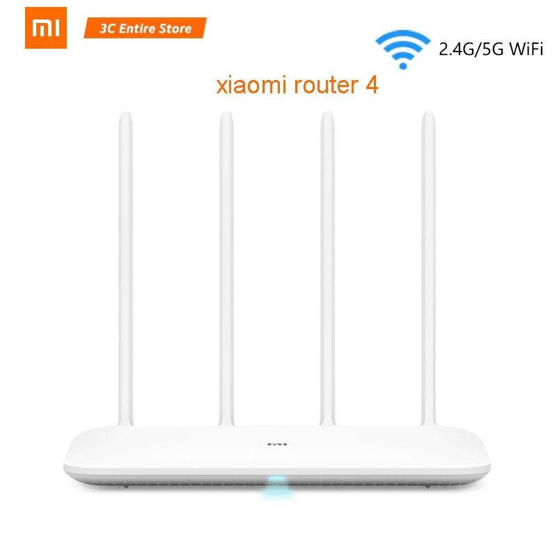 Origine Xiao mi mi routeur wifi 4 répéteur wi-fi 2.4G 5 GHz 128 MO DDR3-1200 Dual Band Dual Core 880 MHz APP Contrôle routeur sans fil