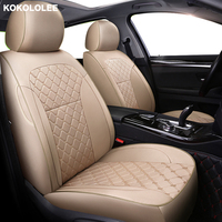 kokololee Custom car seat cover For vw golf 4 5 VOLKSWAGEN polo 6r 9n passat b5 b6 b7 Tiguan accessories covers for vehicle seat