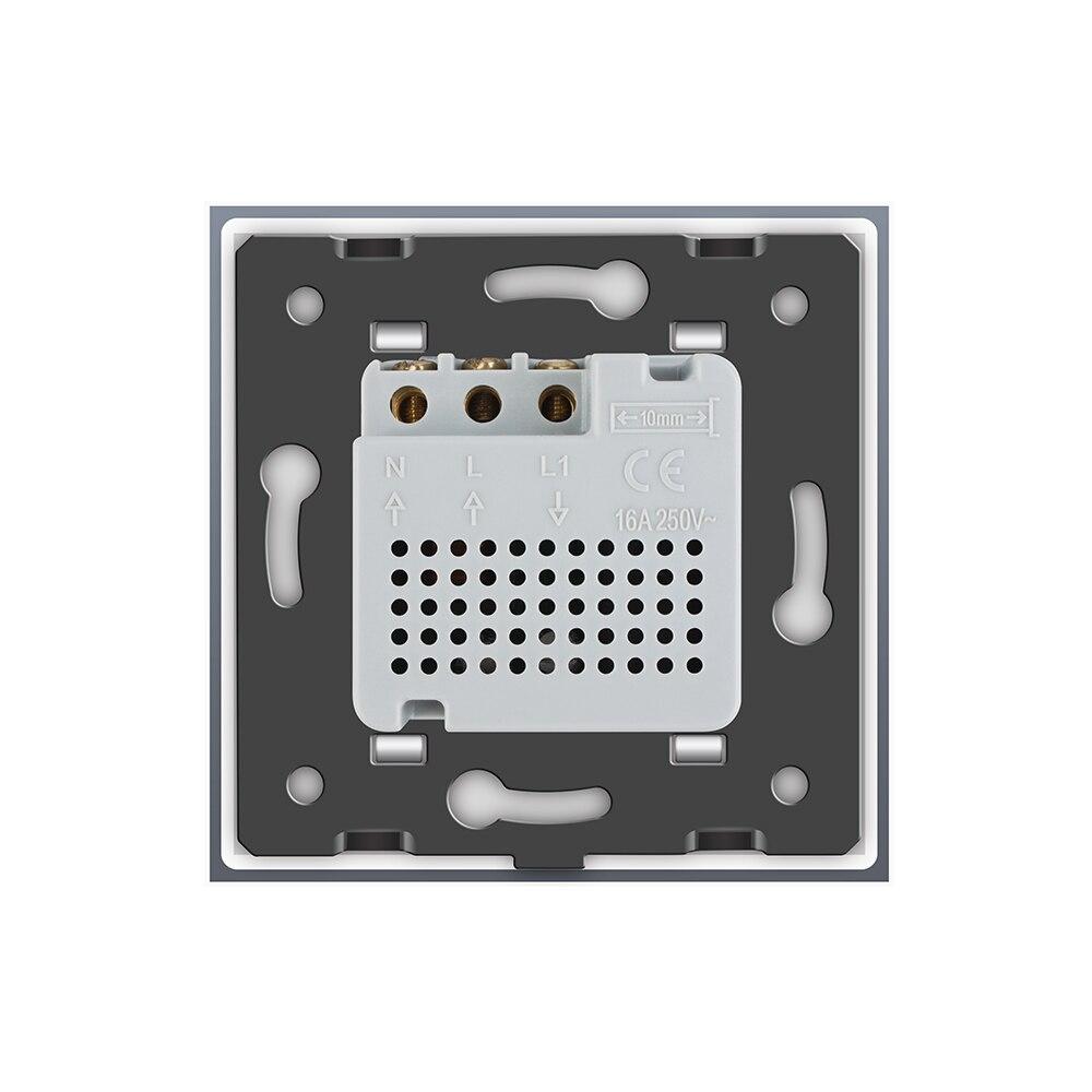 Livolo termostato estándar de la UE de Control de temperatura de calefacción dispositivo 4 colores de cristal de vidrio de Panel AC 110-250 V C701TM-11 - 6