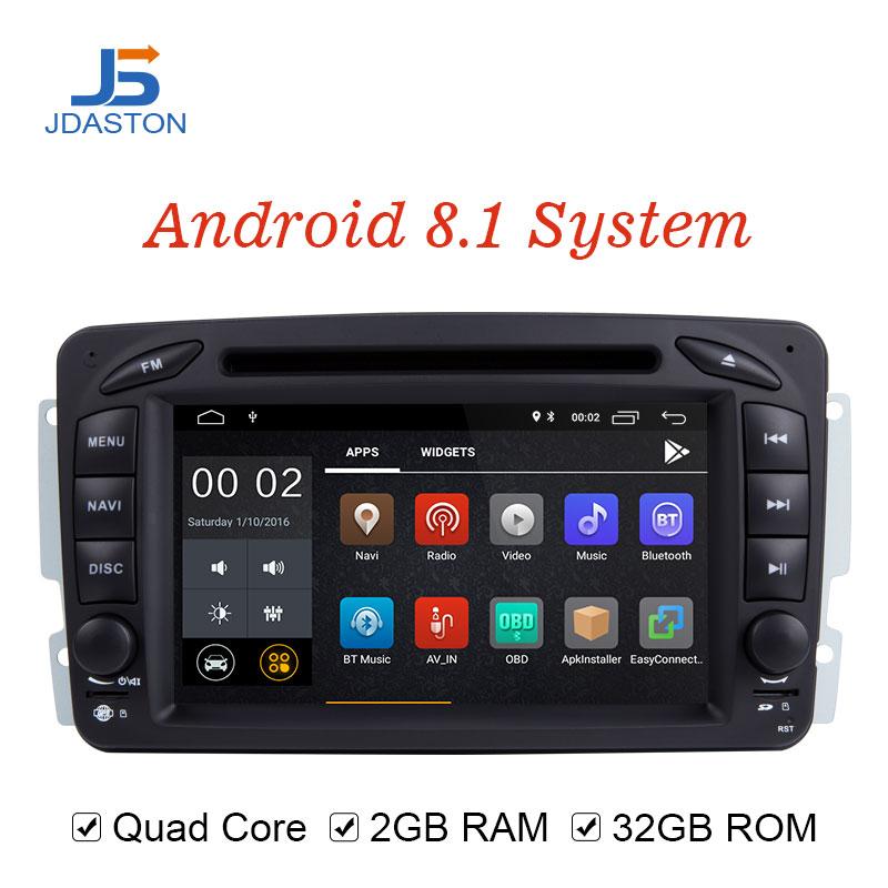 JDASTON Android 8.1 Voiture Lecteur Multimédia Pour Mercedes Benz CLK W209 W203 W208 W463 Vaneo Viano Vito Voiture DVD GPS 2 Din Radio IPS