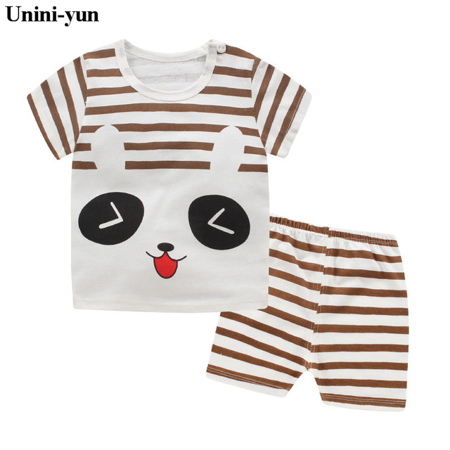 d4332596204f 2PCS Suit Baby Boy Clothes Children Summer Toddler Boys Clothing set ...