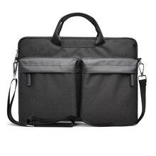 WIWU Multi-pockets Laptop Messenger Bag for MacBook Pro/Air 13 15 Water-resistant Notebook 14 Nylon Case 15.6