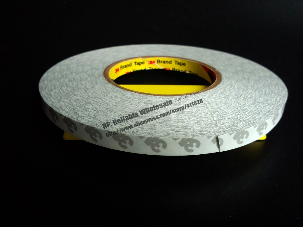 18mm*50 meters High Temperature Withstand Double Coated Sticky  Tape for LED Module Strip Adhesive Bond  *Other Width Available* 1x 160mm 55m 3m 9495le 300lse super strong sticky double sided adhesive tape waterproof high temp withstand industrial bond