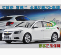 Chevrolet Cruze 1:18 Shanghai GM hatchback Travel Edition white/gold High quality alloy car model simulation original gift toy