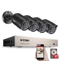 ZOSI 8CH 720 P CCTV системы с 1 ТБ HDD 4IN1 1080N DVR 720 водостойкий ИК Открытый камеры видеонаблюдения безопасности комплект для домашнего видеонаблюдения