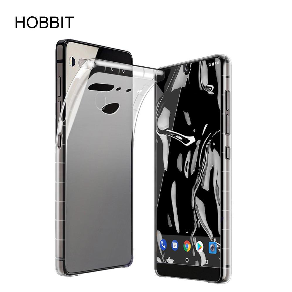 competitive price 127fa 78788 US $3.1 27% OFF|For Essential Phone PH 1 Soft Silicone TPU Fitted Cases  Clear White Slim Back Cover Clear Case for Essential Phone Case-in Fitted  ...