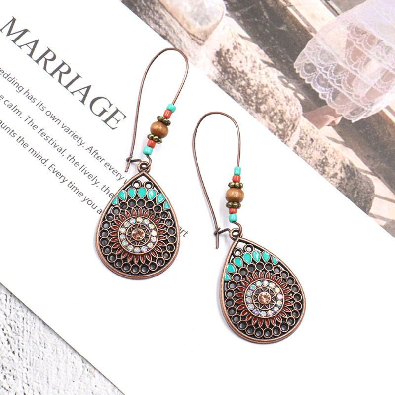 2019 New Bohemia Bohemian Ethnic Hollow Water Shaped Drop Earrings For Women Fashion Jewelry