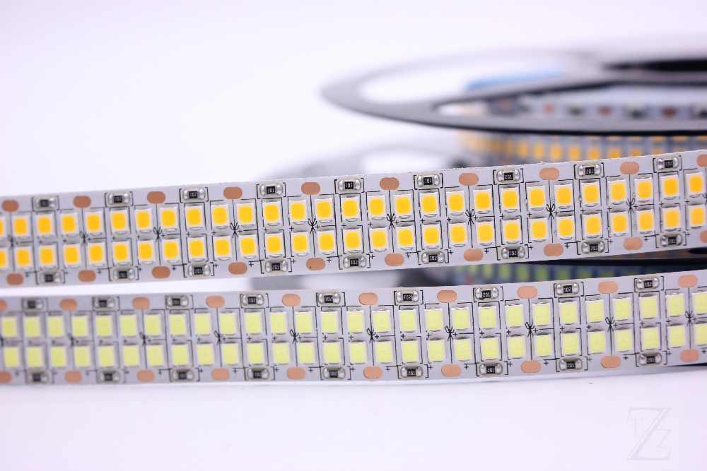 1/2/3/4/5M LED Strip 2835 240LEDs/m 480LEDs/m DC12V High Brightness 2835  Flexible LED Light Warm White / White  5m/lot
