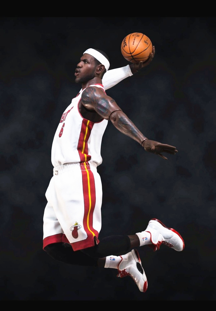 [Limited] Basketball star James NBA HEAT No.6 jersey MVP ALL Star Game Action Figure Toys 1/6 34cm PVC Collection Model gift фанатская атрибутика other nba exclusive collection logo