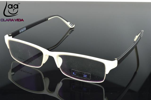 = APENAS 7G = TR90 Ultra Leve Quadro Vidros do Desenhador branco Custom Made Prescrição Óptica Óculos de miopia Photochromic-1 A-6