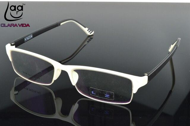 = ONLY 7G = TR90 Ultra Light Designer Glasses Frame white Custom Made Optical Prescription myopia Glasses Photochromic -1 To -6