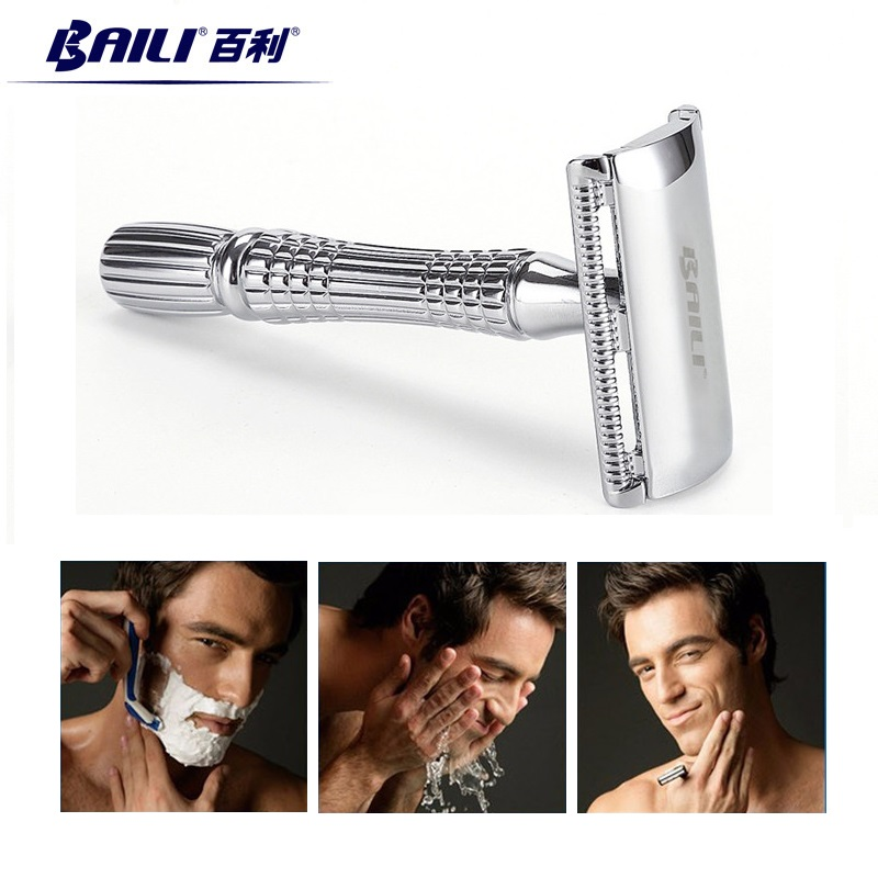 BAILI Classic New Upgrade Safety Razor Manual Exquisite Traditional Double Edge Blade Razor Shaver BT171