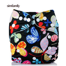 [simfamily]1PC Reusable Waterproof Cloth Diaper Baby Nappy,Double Row Snap Suede Cloth Inner,Wholesale Selling