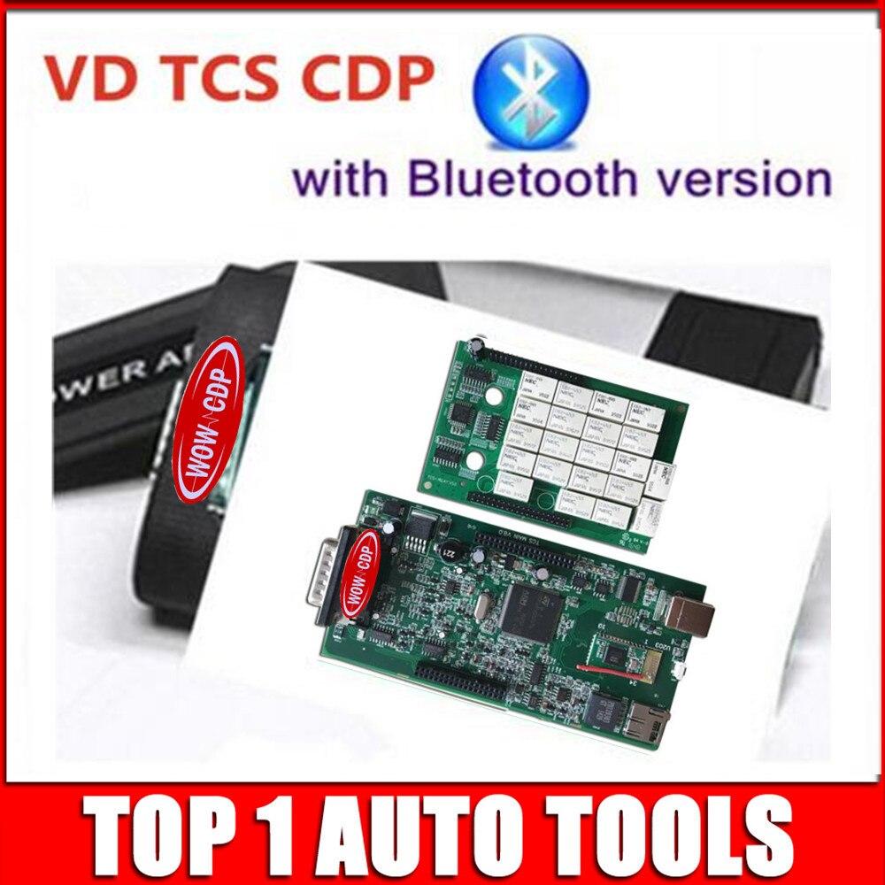 Цена за VD TCS CDP Bluetooth серый Интерфейс двойная зеленая pcb две доски v8.0 2014R2 Keygen 2015.3 программного обеспечения автомобили Грузовики инструменту диагностики