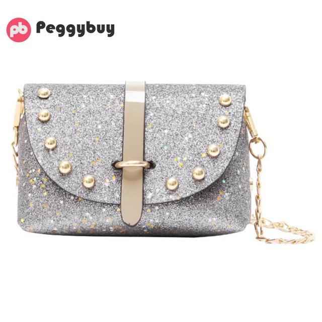 c5f8d7702fcb Bling Glitter Sequins Mini PU Party Shoulder Bags Women Messenger Bags  Chain Shoulder Crossbody Bag Designer