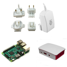 Wholesale prices Freeshipping! Official 2.5A/5.1V Power Supply designed for use in the UK/EURO/USA/AUS+Official Case+ Raspberry Pi 3 Model B