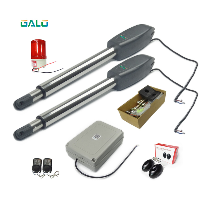 Galo Full kit Heavy Duty 880lbs Gate open Automatic Swing Gate Opener(photocells,lamp,button,keypad,gms optional) galo 300 kg double arms swing gate opener door motor kit with 1 pair of photocells 1 alarm light