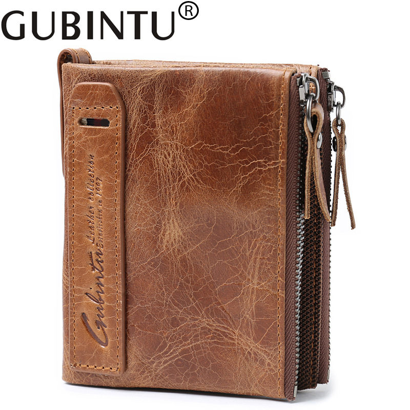 Gubintu Luxury Document For Fashion Real Cowhide Men Genuine Leather Wallet Male Purse Small Perse Walet Cuzdan Vallet Money Bag men business real cowhide leather three style money bag wallet