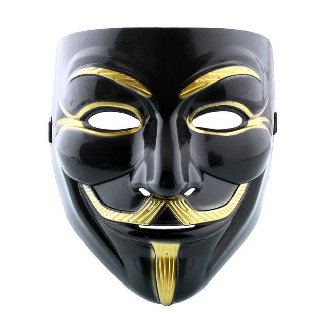 V For Vendetta Mask Anonymous Guy Fawkes Black Mask