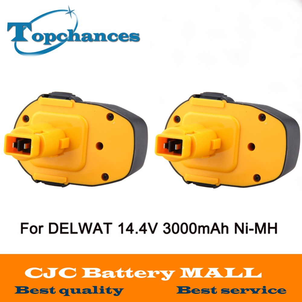 2PCS New 14.4V 3000mAh Rechargeable Battery Pack Replacement Power Tools Battery Cordless Drill for Dewalt DE9092 DE9094 Ni-MH 24v 3000mah 3 0ah rechargeable battery pack power tools batteries cordless drill ni mh battery for makita bh2430 bh2433