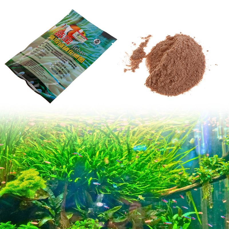 Купить с кэшбэком Aquarium Nitrifying Bacteria Dry Powder 50g Super Concentration For Freshwater Seawater Fish Tank Water Quality Purifier Product