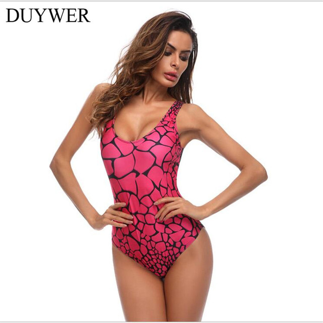 480dac930 2018 Sexy One Piece Swimsuit Women Swimwear Green Leaf Bodysuit Bandage Cut  Out Summer Beach Bathing Suit Swim Monokini Swimsuit