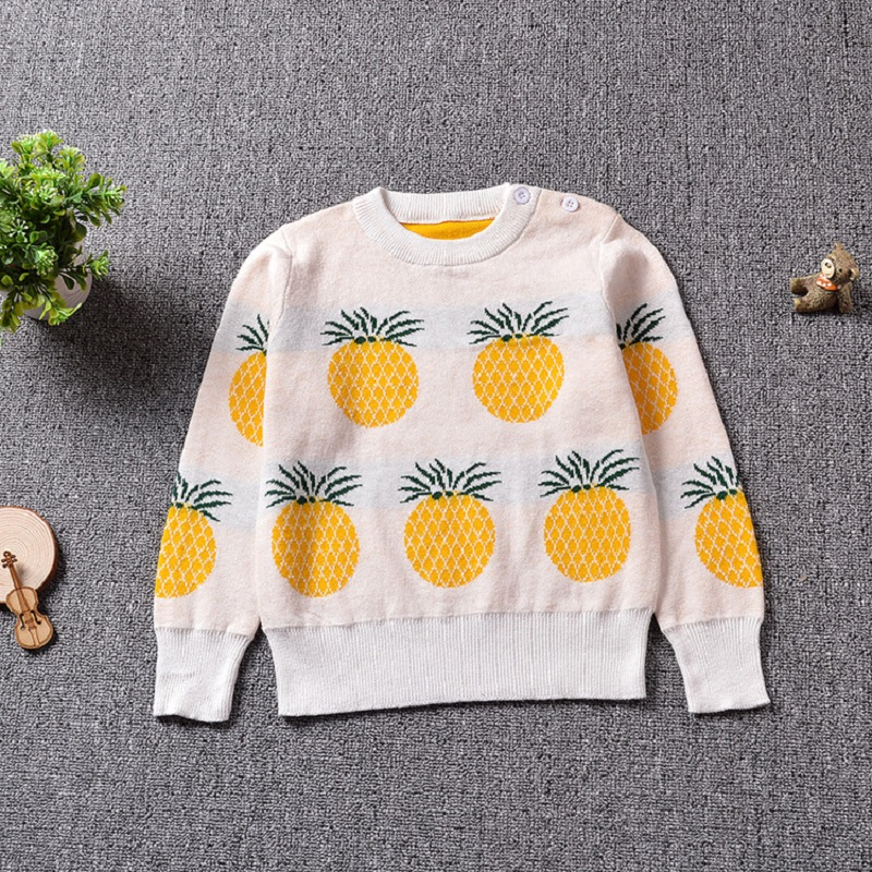 2017 New Autumn Children Knitting Clothes Cute Pineapple ...