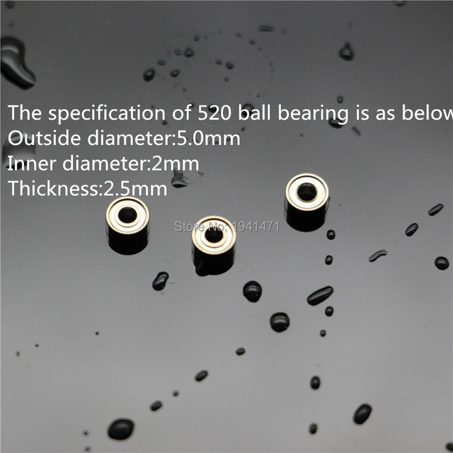 POPIGIST 520 Ball Bearing Self-made Parts For Tamiya MINI 4WD  520 Ball Bearing for  MINI 4WD Aluminium Roller S012 10pcs/lot