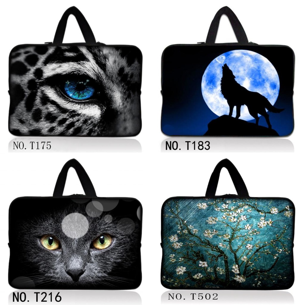 Cat 10 12 13 14 15 15.6 17.3 Leopard Wolf Notebook Bag Smart Cover Tablet Bag Laptop Sleeve Case For Macbook Hp Dell Laptop Bags