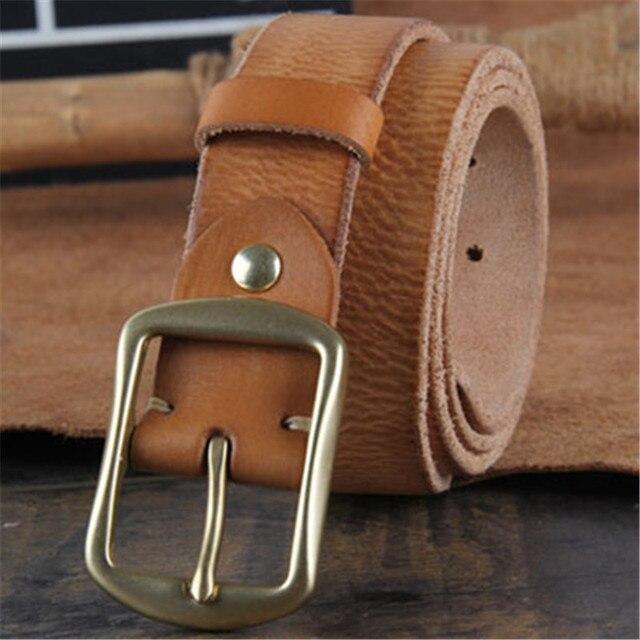 2017 piel de Vaca Cinturones de Cuero Genuino Correa masculina hebilla de lujo de Mujer de marca vintage jeans correa de Diseñadores de alta calidad Anchura 3 CM