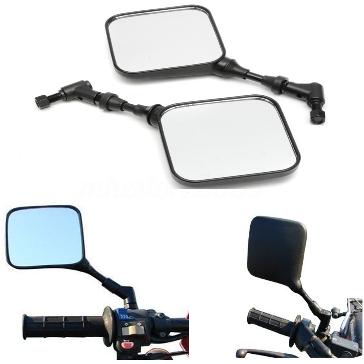 Black Motorcycle Rear View Mirrors For Suzuki <font><b>DR</b></font> <font><b>200</b></font> 250 DR350 DRZ 400 650 DR650 image