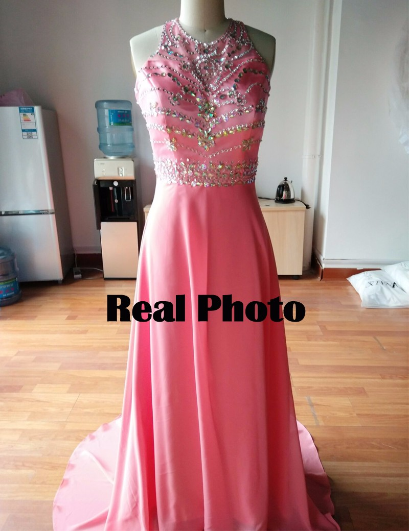 Wb616 2018 real design royal blue bridesmaid dresses bling chiffon wb616 2018 real design royal blue bridesmaid dresses bling chiffon pink long prom party dress formal a line bridesmaid dress in bridesmaid dresses from ombrellifo Image collections