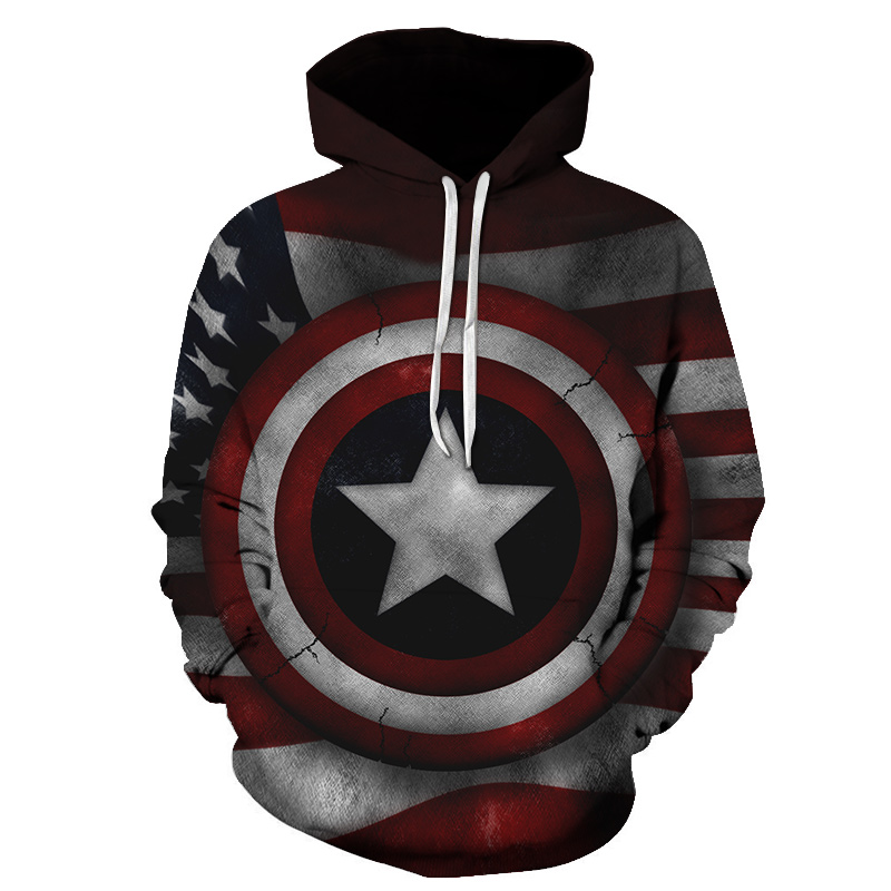 Superhero The Avengers Hoodie Men Women Captain America Print 3D Casual Sweatshirt Hoodies India Eagle Flag New Design Pullover in Hoodies amp Sweatshirts from Men 39 s Clothing