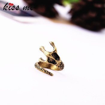 Fashion accessories vintage personality skull chimed ring female Factory Wholesale image