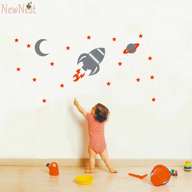 Aliexpresscom  Buy Rocket Wall Decal Baby Boy Nursery Wall - Nursery wall decals baby boy