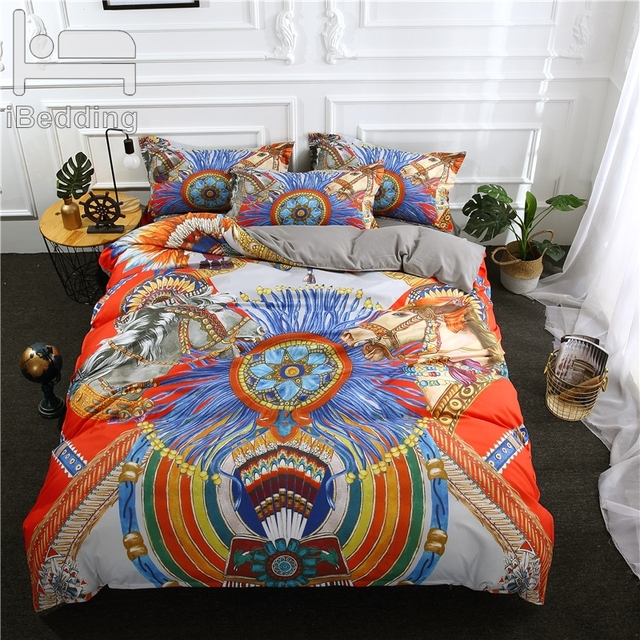 3Pcs/Set Fashion Luxury Printed Duvet Cover Set 3D Bedding Sets Queen King Twin Size