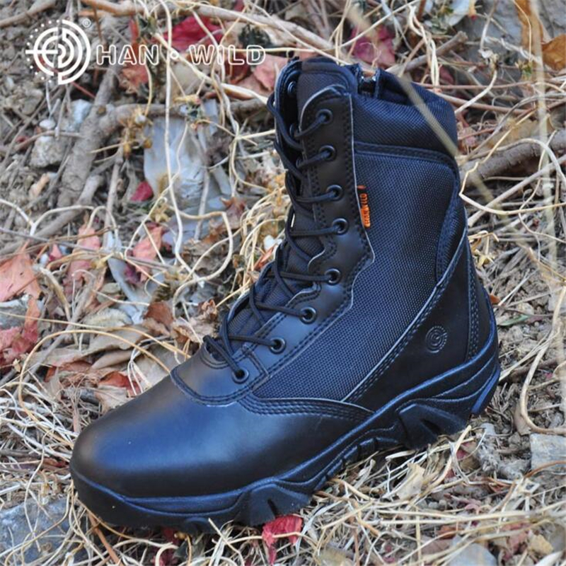 Men Military Tactical Boots High Quality Brand Army Boots Genuine Leather Men Ankle Boot ...
