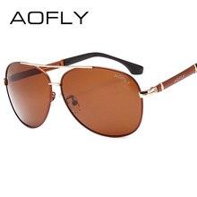 AOFLY Fashion Sunglasses Men Polarized Sunglasses Men Driving Mirrors Coating Points Eyewear Male Pilot Sun Glasses UV400 AF8026