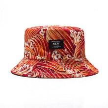 Soft Bucket Hat Man Women Outdoor Sports Hip Hop Caps Embroidery Wave Double Side Summer Cotton Fishing Sun Panama Men