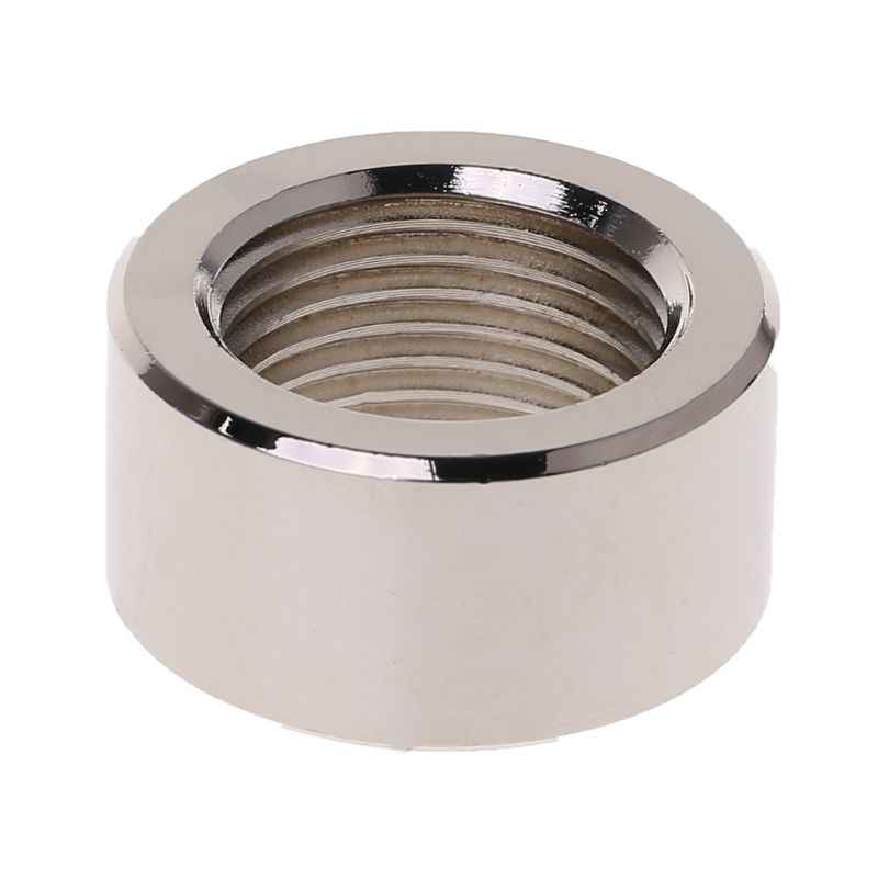 Universal Stainless Steel O2 Oxygen Sensor Exhaust Stepped Mounting Weld Bung Plugs M18x1.5mm On Fittings Width 1 Inch