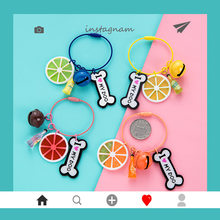 2019 Lovely Fruit lemon Orange Key chain Pendant Candy-Colored keychains Womne Charm Car Keyring Jewelry Gift Pendant(China)