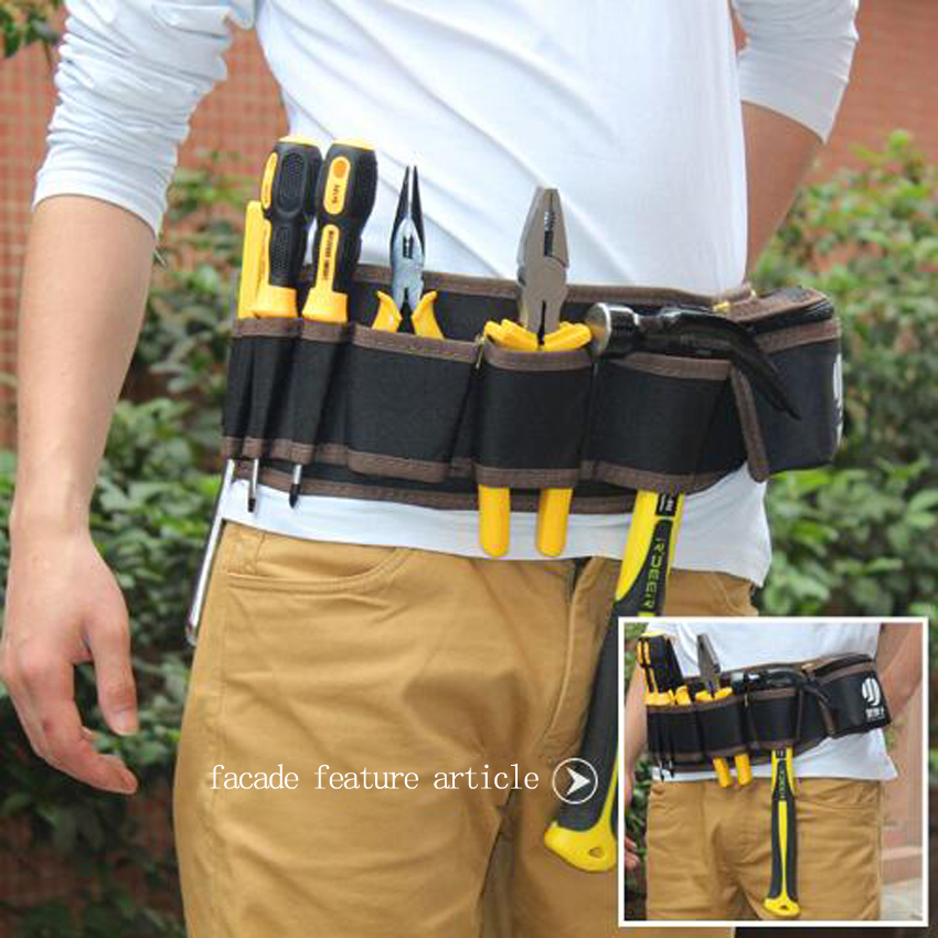 Multi-color Electricians Tool Belt Repair Pouch Pocket Tool Waist Bag Multifunctional Waterproof Carpenter Oxford Cloth Tool Bag