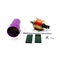 CNSPEED Frete grátis 37mm Digital Medidor De Pressão De Óleo Do Carro Com Sensor de LED Vermelho Mini Fumaça Medidor De pressão de Óleo Calibre Auto TT100149