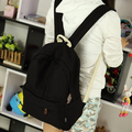 Estilo bastante lona del diseño simple del color del caramelo mujeres mochila mochila estudiante de la escuela bolsa mochila de ocio